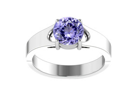 925 Sterling Silver Sparkle Solitaire Natural Round Cut Tanzanite Party ... - $58.57