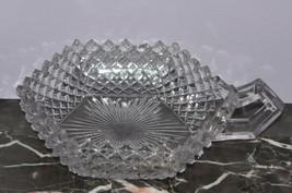 "Westmoreland Glassware English Hobnail Crystal 555 Clear 6"" Handled Bon Bon - $12.59"