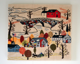 Vintage Handmade Needlework Cross Stitch Embroi... - $34.95