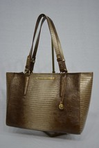 NWT! Brahmin Medium Arno Shoulder Bag in Sable Fashion Lizard Dull Gold ... - $227.00
