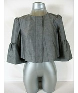 THE LIMITED womens Small 3/4 Bell sleeve gray FULLY LINED CROPPED jacket... - $39.88