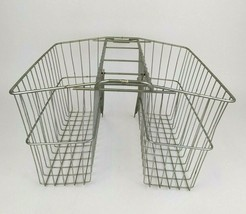 Vintage Bicycle Rear Wire Double Side Bike Saddle Rack Basket Grocery Pa... - $49.49