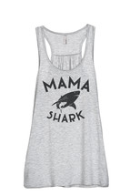 Thread Tank Mama Shark Women's Sleeveless Flowy Racerback Tank Top Sport Grey - $24.99+