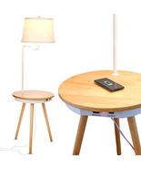 Brightech Owen - End Table with Lamp for Living Rooms, Wireless Charging... - $73.99