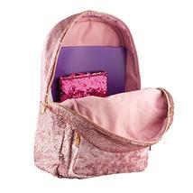Style.Lab Fashion Angels Backpack-Pink Glitter/Velvet Pocket Magic Sequin Back P image 5