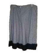 My Michelle Black White Checkered Vintage Springtime Eyelet Lace Skirt S... - $9.90