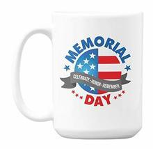 Memorial Day, Celebrate Honor Remember with USA or American Flag Coffee ... - £17.61 GBP