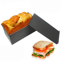 Rectangle Non-stick Toast Box Kitchen Pastry Bread Baking Pan Bakeware - $21.98