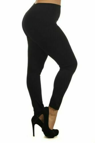 Primary image for NWT Yelete LegWear Women's Plus Size Solid Color Seamless Fleece Lined Leggings