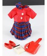 Pepper 9308 Teacher's Pet Red Plaid Jumper Shoes Tote Original 1960s Clo... - $29.69
