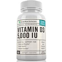 Gaia Sciences Vitamin D3 5,000 IU in Cold-Pressed Organic Olive Oil, GMO-Free, H image 2