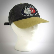 Key West Florida USA Hat Cotton Black Khaki Cap Adjustable Conch Republi... - $22.72