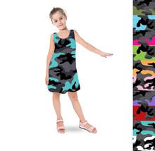 Dark Camouflage Kids Sleeveless Dress - $35.99+