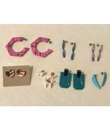 Vintage Mod 80s Womens Earring Lot Retro Plastic 7 Pairs of Earrings - $19.99