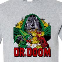 Dr. Doom T-shirt II vintage retro Bronze Age comics heather grey superhero tee image 2