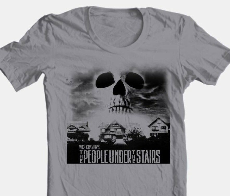 The People Under Stairs T-shirt retro horror movie cotton tee Free Shipping