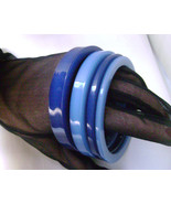 Vintage Buch and Deichmann B+D Blue Bracelets Denmark Boxed NOS 1970s - $47.00