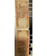 UNC STAR NOTES - INDIA 10 Rupees 2018 (P-109) (L-Inset) & 10 Rupees 2011... - $24.75