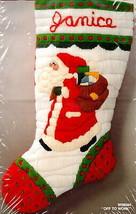 Bernat Pa In His Cap Boy Candle Christmas Quick Needlepoint Stocking Kit... - $42.95