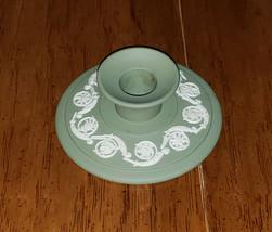 Wedgwood Jasperware Green Banquet Candlestick Holder Beautiful - $14.99