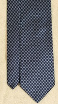 Vtg Brooks Brothers Makers Pure Silk Navy Blue/Blue Geometric Neck Tie USA - $29.00