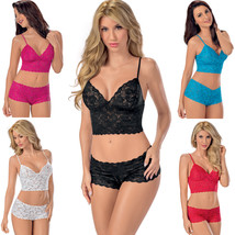 Essential 2 Piece Lace Cami Set in 5 Colors - Sz Small - XL  5616 - $42.00