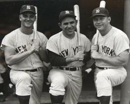 Mickey Mantle Roger Maris Berra 8X10 Photo New York Yankees Ny Baseball Picture - $3.95