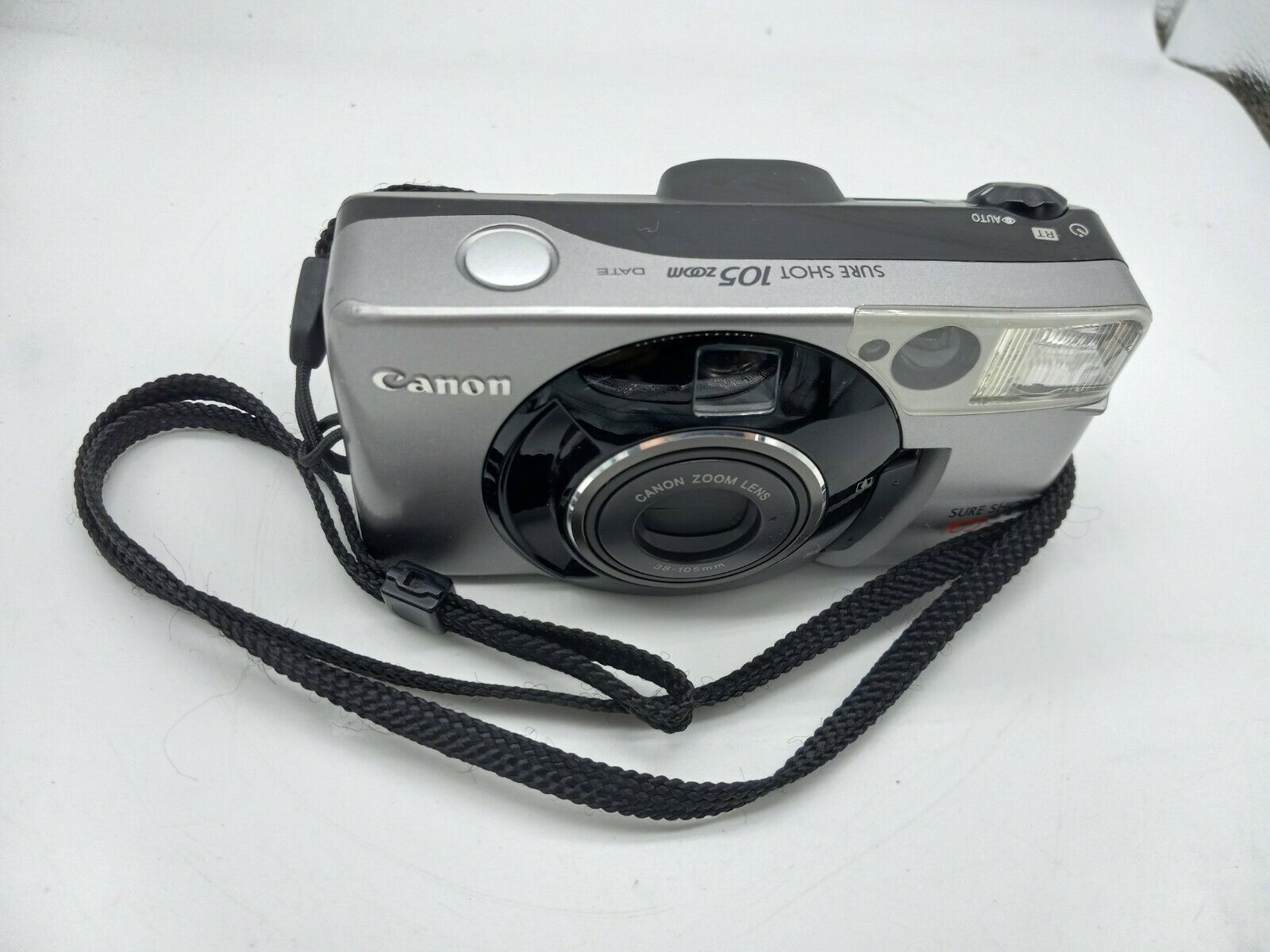 Canon Sure Shot 105 Zoom camera see notes (broken switch) - $9.89
