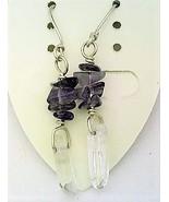 Iolite gemstone chip crystal silver earring thumbtall