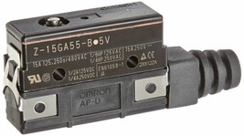 Basic Switch, General Purpose Pin Plunger Omron Z-15GA55-B5V Drip Proof 15A/0.5. - $27.15