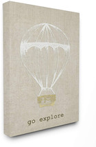 Stupell Home Décor Go Explore Hot Air Balloon Stretched  Wall Art, 16 X ... - $74.70