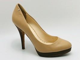 Coach Women's Buffy Platform Pumps Nude Leather Size 7B - $18.80