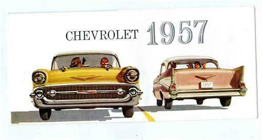 1957 Chevrolet Bel-Air Two Ten & One Fifty Sales Brochure - $13.86