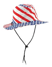 Patriotic Flag Hat (stars stripes design) Party Accessory (1 count) - £18.55 GBP