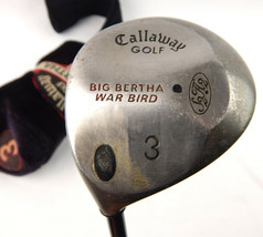 Callaway Big Bertha War Bird Left Handed Fairway 3 Wood Firm Flex w/ Cover - $25.23