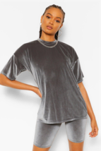Velvet Oversized T-Shirt and Cycling Co-ord - $43.50