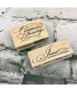 Christmas Blessings Jesus The Reason For The Season Rubber Stamps Lot Of 2 VTG - $11.88