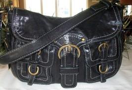 Coach Legacy Garcia Leather Shoulder Hobo Flap Bag Black 12654 - $69.00