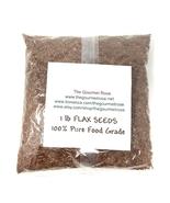 1 lb ORGANIC WHOLE BROWN FLAX SEED Omega-3 Linseed Flaxseed Egg Substitu... - $9.95