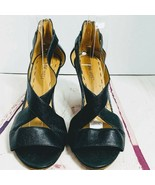 "Nine West Black 3 "" Wedge Heel Shoes Size 8 M - $20.00"