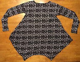 Abercrombie Kid's Girl's Black & White Long Sleeve Shirt - Blouse - Size: Small image 12