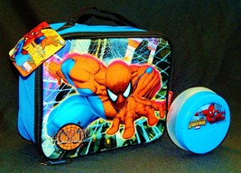 AMAZING SPIDER-MAN MARVEL Snack Container & Insulated Lunch Tote Box Set... - $15.11
