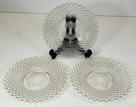 Westmoreland English Hobnail Clear Luncheon Plates Lot Of 3 - $19.99