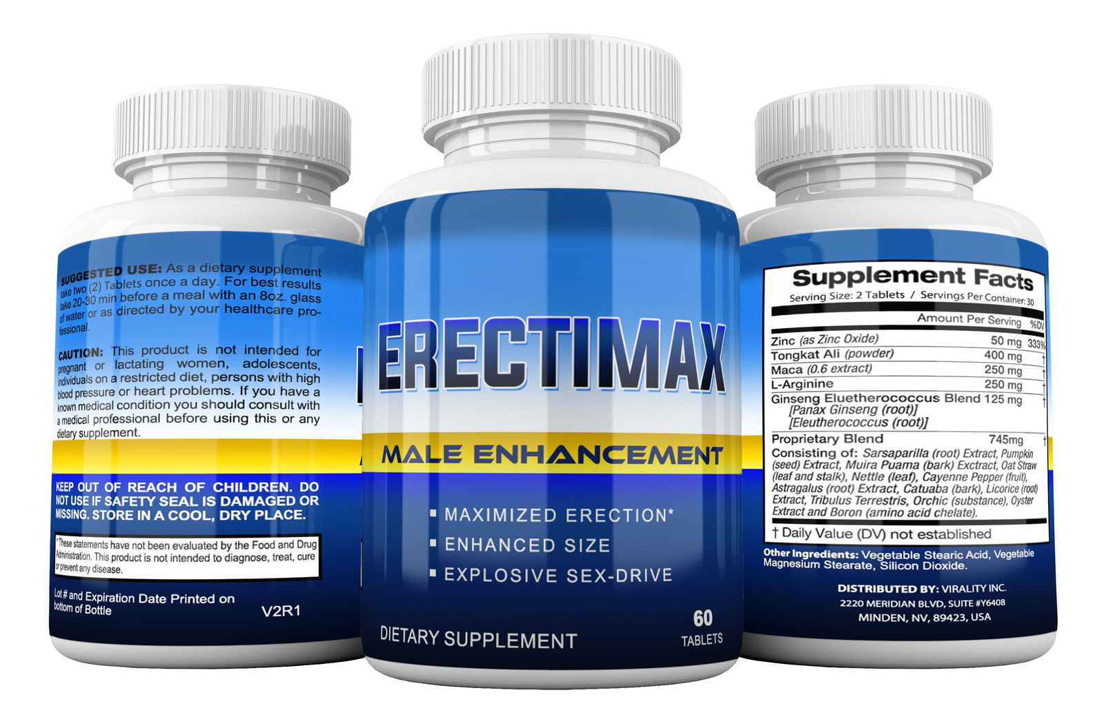 Erectimaxmale Enhancement Make Your Penis Bigger Pills - Get Larger Grow Longer -3211