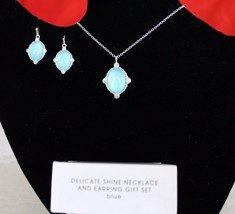 Delicate Shine Necklace - Earring Gift Set -Purple, Blue, or Green - you... - $15.99
