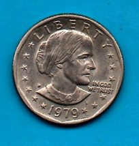 1979 D Susan B. Anthony Dollar - Circulated - Moderate Wear  About XF - $1.99