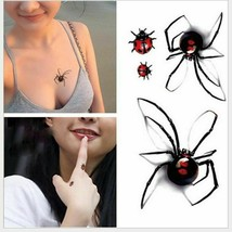 Black Spider 3d Waterproof Temporary Tattoo Stickers - One Sheet image 2