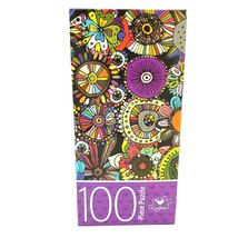 Cardinal Flower Floral Doodles 100 Pieces Jigsaw Puzzle - $5.95