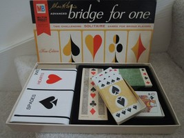 Bridge for One Board Game 2 Solitaire Games for Bridge Players by Charle... - $17.99