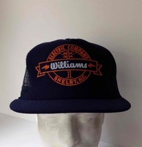1980s Vintage WILLIAMS ELECTRIC CO NC Navy Blue Snapback Hat Trucker Cap - $29.69
